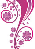 Floral print background stock photo
