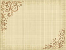 Floral print canvas background. Natural colors, fabric texture visible Stock Photography
