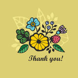 Floral print for the card. Royalty Free Stock Image