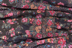 Floral print fabric detail Stock Image