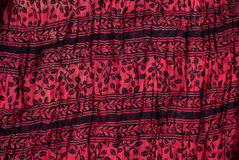 Floral print fabric detail Royalty Free Stock Images