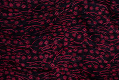 Floral print fabric detail Stock Images