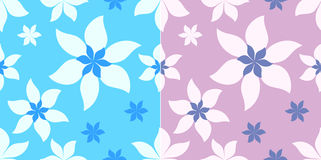 Floral print set Stock Photography