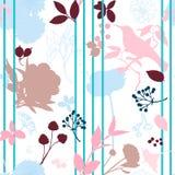 Floral print stripe vector illustration