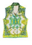 Floral print vest Stock Image