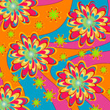 Floral Psychedelic pattern Royalty Free Stock Image
