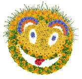 Floral psychodelic smile Royalty Free Stock Photo