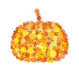 Floral pumpkin mosaic Stock Photography