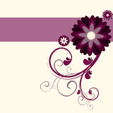 Floral purple background Stock Photography