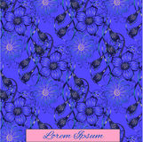Floral purple background with place for your text. Stock Images