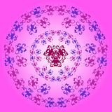 Floral purple pattern Royalty Free Stock Photography