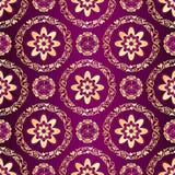 Floral purple seamless pattern Stock Image