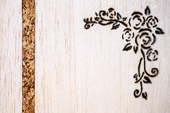 Floral pyrography Royalty Free Stock Photography