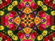 Floral Quilt Design Stock Image