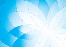 Floral radiate background blue Royalty Free Stock Photos