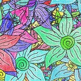 Floral rainbow Royalty Free Stock Image