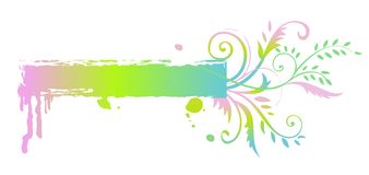 Floral rainbow banner Royalty Free Stock Photography