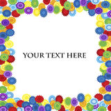 Floral rainbow frame Stock Images