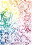 Floral rainbow hand-drawn background Royalty Free Stock Photos
