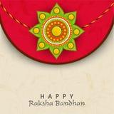 Floral rakhi for Happy Raksha Bandhan celebration. Royalty Free Stock Images