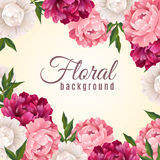 Floral Realistic Background Stock Image