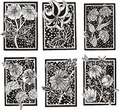 Floral rectangle patterns Stock Photography