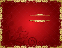 Floral red background Royalty Free Stock Photography