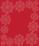 Floral red background Stock Image