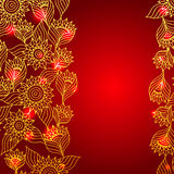 Floral red elegant lace ornament template Stock Images