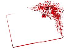 Floral red frame Royalty Free Stock Photography