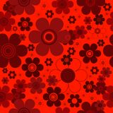 Floral red seamless background. Floral seamless red background with dark flowers (vector royalty free illustration