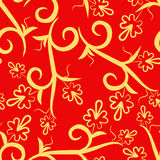 Floral red seamless pattern Stock Photos