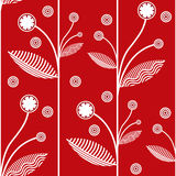 Floral red vector background Royalty Free Stock Photos