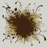Floral redondo ilustração do vetor