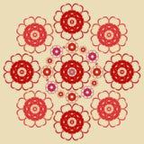 Floral redondo decorativo Imagens de Stock