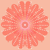 Floral redondo ornamental Fotografía de archivo libre de regalías
