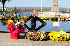 Floral reef bouquet  at a war memorial Kings Park Perth Stock Image