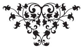 Floral Renaissance Detail 2 Vector. A classic scrolling floral renaissance design vector illustration