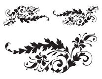 Floral Renaissance Detail Vector 3 Royalty Free Stock Photos