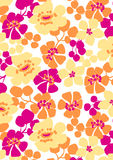 Floral repeat pattern. Vector illustration of a floral repeat pattern Royalty Free Stock Photo
