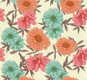 Floral repeating background Stock Photo