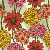 Floral repeating wallpaper Royalty Free Stock Image