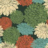 Floral repeating wallpaper Royalty Free Stock Photos