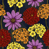 Floral repeating wallpaper Stock Image