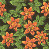 Floral repeating wallpaper Stock Photo