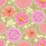 Floral repeating wallpaper Stock Photos
