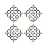 A floral repetitive diamond star ornamental in two tones. A floral diamond start shapped oranmental geometric pattern with a repetitive design which can be used stock illustration