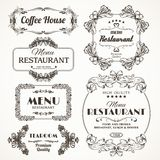 Floral restaurant frames Stock Photo