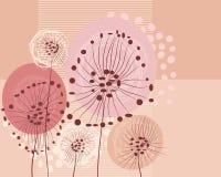 Floral retro background Stock Photos