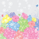 Floral Retro Background Stock Photo